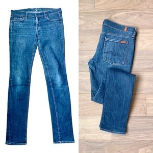 7 FOR ALL MANKIND Roxanne Mid-Rise Straight Slim